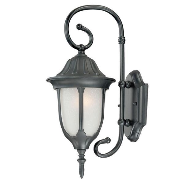 "Acclaim Lighting Suffolk 1-Light Wall Mount Lantern - 6.5"" x 16"" - Black"