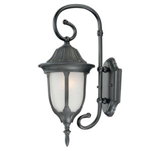 "Acclaim Lighting Suffolk 1-Light Wall Mount Lantern - 6.5"" x 16"" - Black"