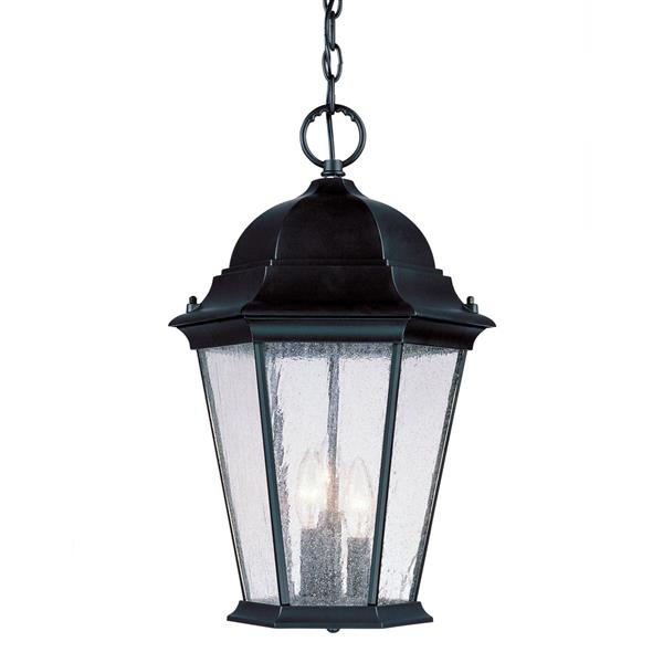 "Acclaim Lighting Richmond 3-Light Hanging Lantern - 18.5"" - Black"