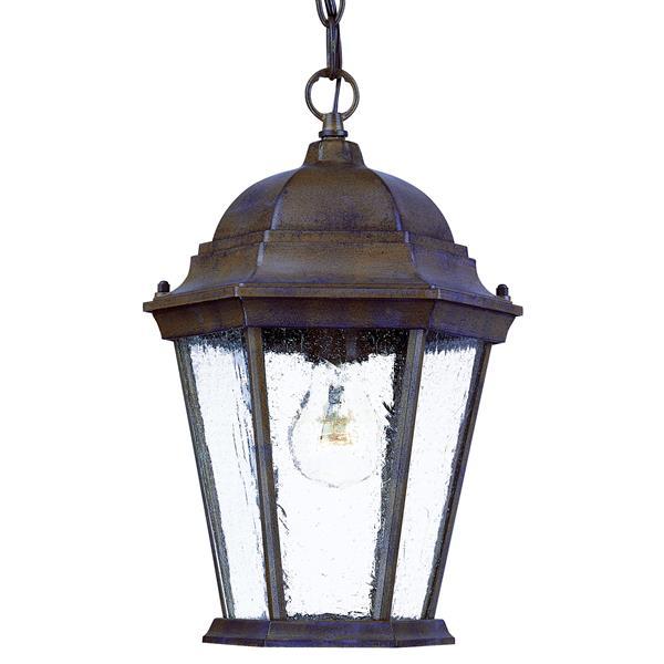"Acclaim Lighting Richmond 1-Light Hanging Lantern - 9.5"" x 14"" - Walnut"