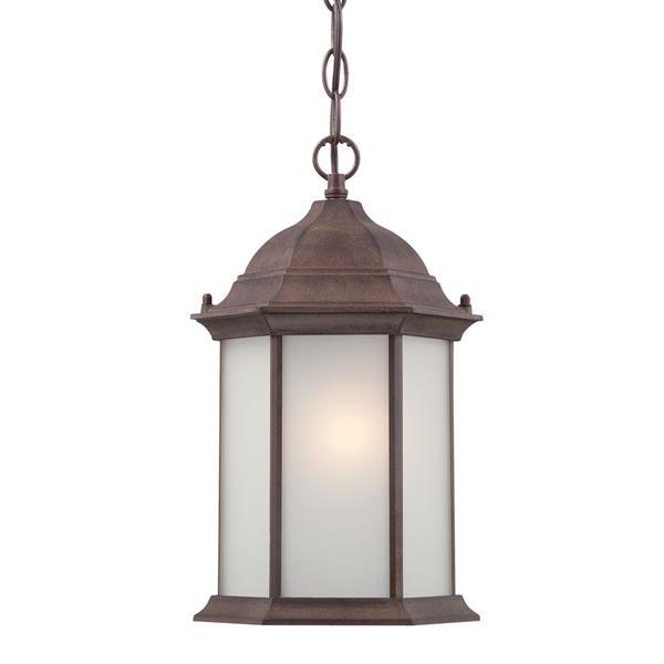 "Acclaim Lighting Madison 1-Light Hanging Lantern - 14"" - Walnut"