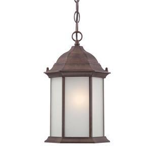 """Lanterne suspendue à 1 lumière Madison, 14"""", noyer"""