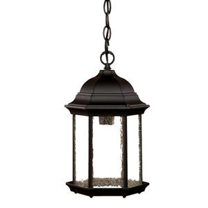 "Acclaim Lighting Madison 1-Light Hanging Lantern - 14"" - Black"
