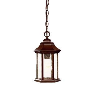"Acclaim Lighting Madison 1-Light Hanging Lantern - 12"" - Walnut"