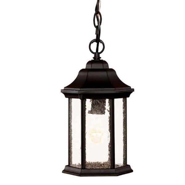 """Lanterne suspendue à 1 lumière Madison, 12"""", noir"""