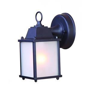 "Acclaim Lighting Builder's choice 1-Light Wall Mount Lantern - 8.5"" - Black"