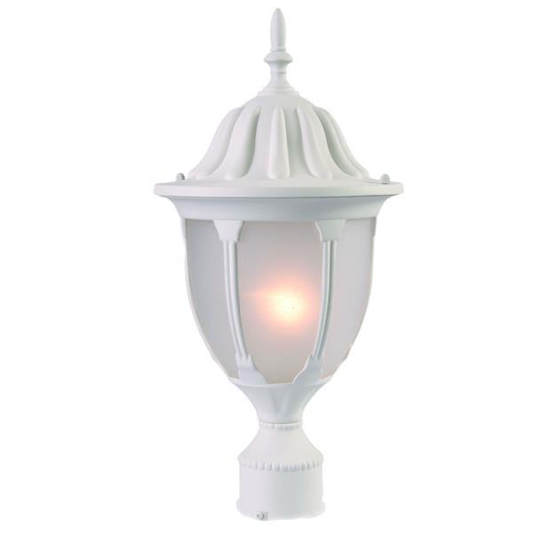 """Acclaim Lighting Suffolk 1-Light Post-Mount Lantern - 18.5"""" - White"""