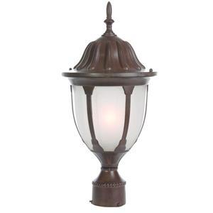 """Lanterne de poteau extérieur Suffolk, 1 lumière, 18,5"""", noir"""