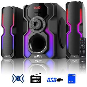 BeFree Sound Channel Multimedia Wired Speaker - LED