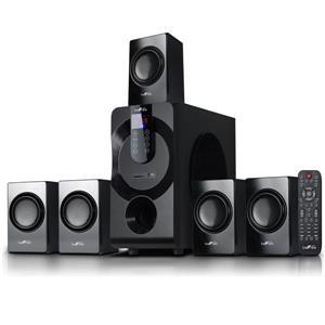 """Système haut-parleur Bluetooth, 22"""" x 19"""", noir, 5 mcx"""