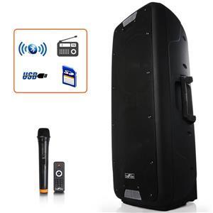 """Haut-parleur portable Bluetooth rechargeable, 12"""", noir"""