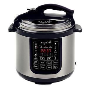 Megachef 8 Quart Digital Pressure Cooker - 15-in - Silver