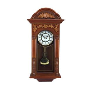 "Bedford Wall Clock - 12.75"" x 27.5"" - Wood - Oak"