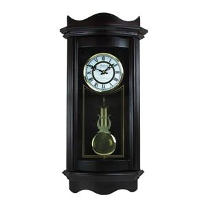 "Bedford Wall Clock - 11.5"" x 25.25"" - Wood - Chocolate"