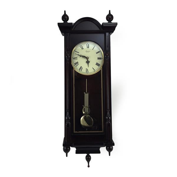 "Bedford Wall Clock - 15"" x 31"" - Wood - Cherrywood"