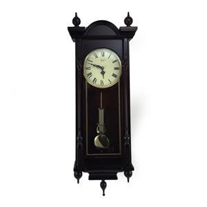 "Horloge murale Bedford, 15"" x 31"", bois, merisier"