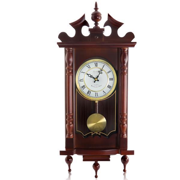 "Bedford Wall Clock - 12"" x 31"" - Wood - Cherry Oak"