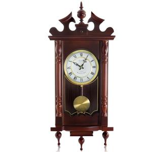 "Bedford Wall Clock - 12"" x 31"" - Wood - Cherry Oak"