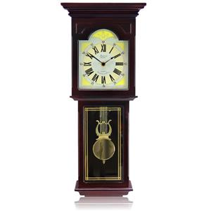 "Bedford Wall Clock - 10"" x 23"" - Wood - Red Oak"