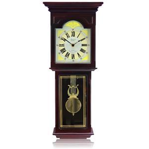 """Horloge murale Bedford, 10"""" x 23"""", bois, chêne rouge"""