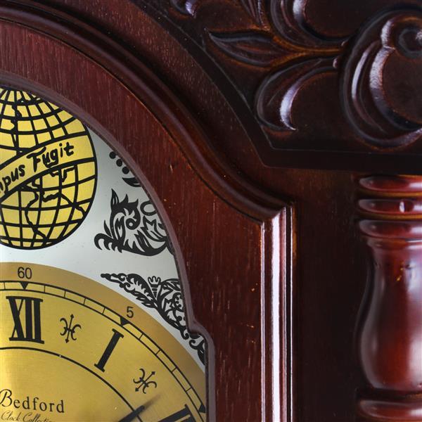 "Horloge murale Bedford, 17,25"" x 38"", bois, merisier"