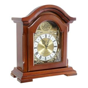 "Bedford Mantel Clock - 9.7"" - Wood - Redwood"
