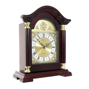 """Pendule de cheminée Bedford, 12"""", bois, merisier"""