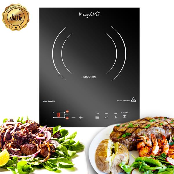 MegaChef 11-in Single Element Portable Induction Cooktop (Black)