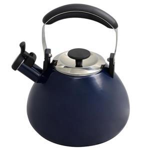 Bouilloire sifflante Marlowe, 2,8 litres, acier, bleu foncé