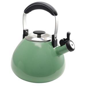 Bouilloire sifflante Marlowe, 2,8 litres, acier, vert menthe