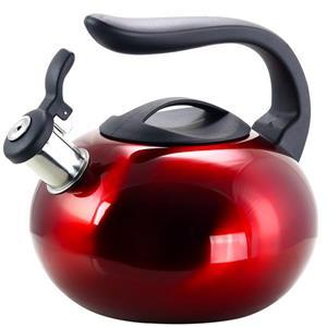 Bouilloire sifflante Langham, 2,1 L, acier inoxydable, rouge