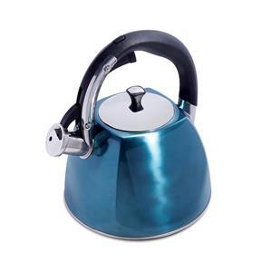 Bouilloire sifflante Belgrove, 2,5 L, acier inoxydable, bleu