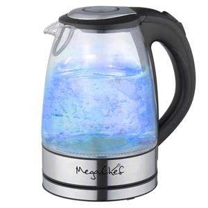 MegaChef Electric Tea Kettle - 1.7 L - Glass
