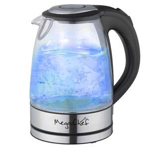 Bouilloire électrique MegaChef, 1,7 litre, verre