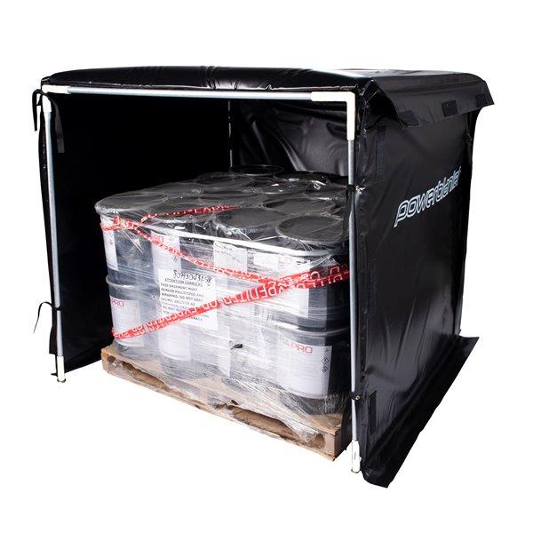 Powerblanket Hot Box - 36' x 48' - Recycled Plastic - Black
