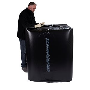 Tote Heater - 24' x 186' - Recycled Plastic - Black