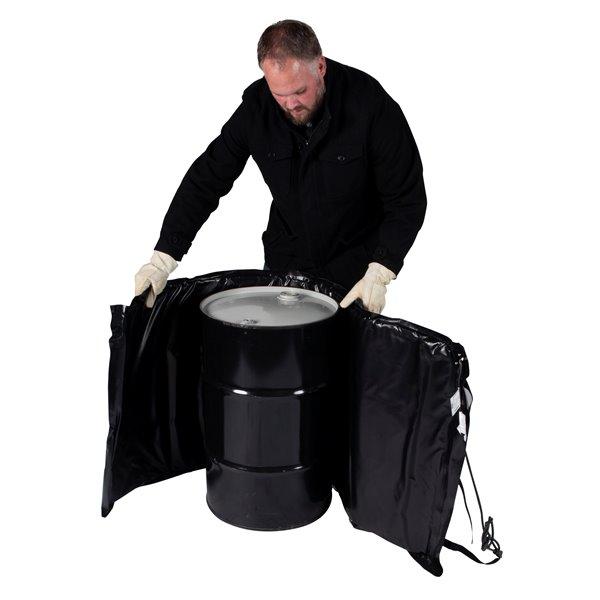 Powerblanket Drum Heater - 25' x 54' - Recycled Plastic - Black