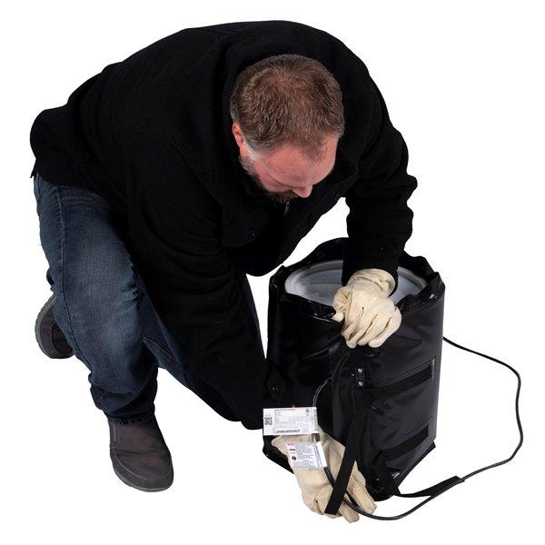 Powerblanket Pail Heater - 16' x 47' - Recycled Plastic - Black