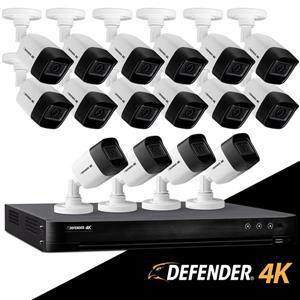 16 caméras de sécurité avec vision nocturne, Defender 4K