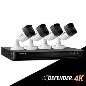 Système de sécurité filaire Defender 4K 1 To avec 4 caméras