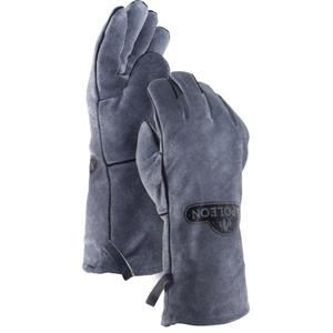 BBQ Gloves - Genuine Leather - Gray