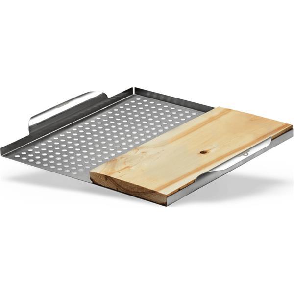 """Plateau de cuisson avec planche, 14"""", acier inoxydable"""