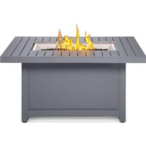 Napoleon Hamptons Rectangle Fire Pit - 52-in x 25-in - Aluminum - Gray
