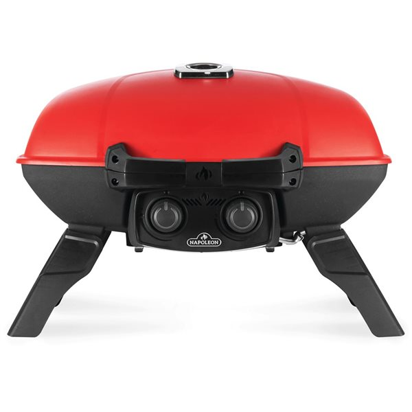 Napoleon TravelQ Portable Propane Gas Grill with Griddle - 24-in - Red