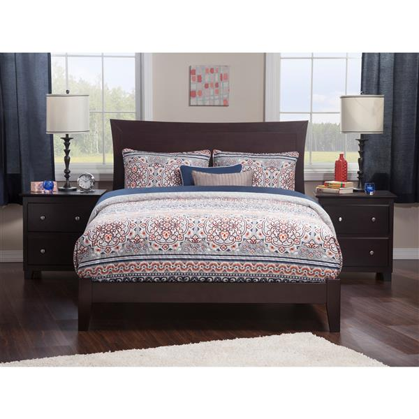 Atlantic Furniture Metro King Platform Bed with Open Footboard - Espresso