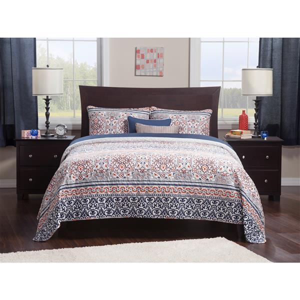 Atlantic Furniture Metro Full Platform Bed with Open Footboard - Espresso