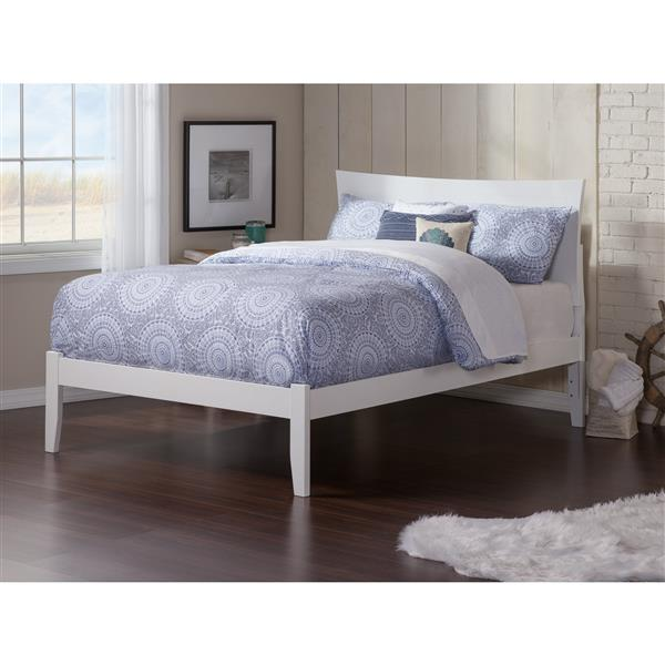 Atlantic Furniture Metro Full Platform Bed with Open Footboard - White