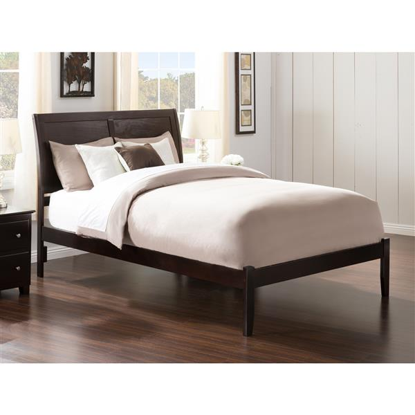 Atlantic Furniture Portland Queen Platform Bed with Open Footboard - Espresso