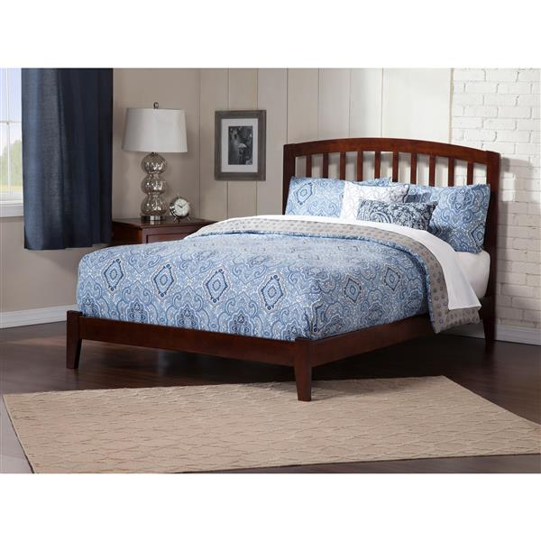 Atlantic Furniture Richmond King Platform Bed with Open Footboard - Walnut