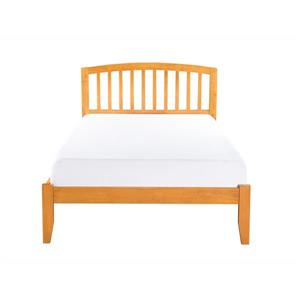 Atlantic Furniture Richmond Queen Platform Bed with Open Footboard - Caramel